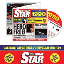 1930 to 2002  Birthday Star CD Greeting Card